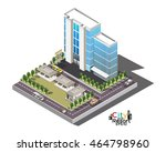 vector isometric icon or... | Shutterstock .eps vector #464798960