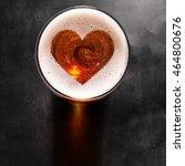 loving beer  heart symbol on... | Shutterstock . vector #464800676
