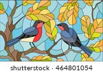 illustration in stained glass... | Shutterstock .eps vector #464801054