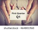 first quarter  q1  of business  ... | Shutterstock . vector #464801960