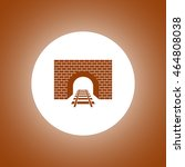 tunnel icon. vector concept... | Shutterstock .eps vector #464808038