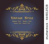 vector elegant gold frame...   Shutterstock .eps vector #464813528