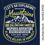 mountain illustration  outdoor... | Shutterstock .eps vector #464813900