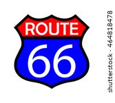 route sign. | Shutterstock .eps vector #464818478