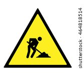 under construction sign. | Shutterstock .eps vector #464818514