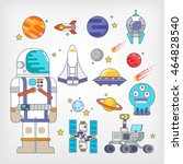 outer space | Shutterstock .eps vector #464828540