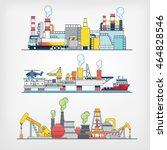 oil industry | Shutterstock .eps vector #464828546