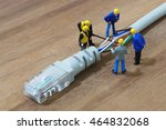 group of engineer workers are... | Shutterstock . vector #464832068