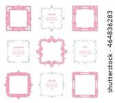 vintage ornate square frame set. | Shutterstock .eps vector #464836283