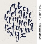 calligraphic lowercase brush... | Shutterstock .eps vector #464844443
