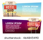 two banner for web design.... | Shutterstock .eps vector #464845490