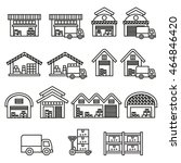 warehouse building icon. stock... | Shutterstock .eps vector #464846420