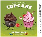 vintage cupcake poster design... | Shutterstock .eps vector #464849288