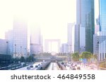 skyscrapers cityscape with... | Shutterstock . vector #464849558