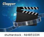 clapper cinema movie theater... | Shutterstock .eps vector #464851034