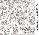 hand drawn almond seamless... | Shutterstock .eps vector #464858966
