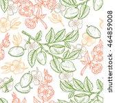 hand drawn almond seamless... | Shutterstock .eps vector #464859008