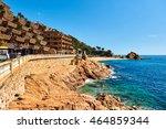 spanish resort town of tossa de ... | Shutterstock . vector #464859344