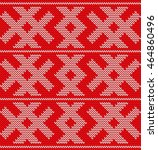 traditional christmas knitted...   Shutterstock .eps vector #464860496