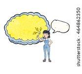 freehand speech bubble textured ... | Shutterstock . vector #464862350