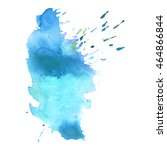 expressive abstract watercolor... | Shutterstock .eps vector #464866844