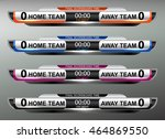 scoreboard sport template for... | Shutterstock .eps vector #464869550