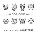 set icons dogs | Shutterstock .eps vector #464869739