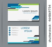 modern colorful visiting card... | Shutterstock .eps vector #464869754
