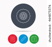 tractor wheel icon. tire... | Shutterstock . vector #464875376