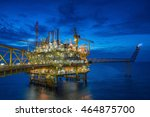 oil and gas central processing...   Shutterstock . vector #464875700