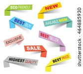 vector sticker banners  grouped ... | Shutterstock .eps vector #464885930