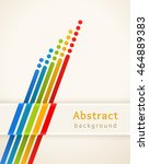 colored stripes with circles.... | Shutterstock .eps vector #464889383