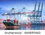 logistics and transportation of ... | Shutterstock . vector #464890460