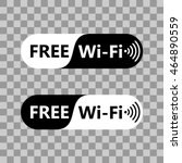 free wifi icon symbol. vector... | Shutterstock .eps vector #464890559
