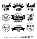 thank you vintage label set.... | Shutterstock .eps vector #464893298