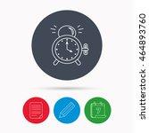 alarm clock icon. mechanical... | Shutterstock . vector #464893760