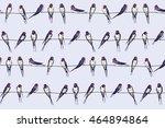 swallow bird pattern | Shutterstock .eps vector #464894864