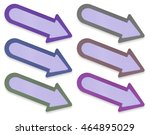 arrow tag paper craft stick on... | Shutterstock . vector #464895029