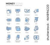 simple set of money related... | Shutterstock .eps vector #464896220
