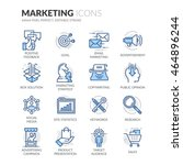 simple set of marketing related ... | Shutterstock .eps vector #464896244