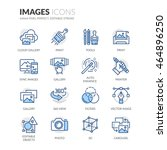 simple set of images related... | Shutterstock .eps vector #464896250