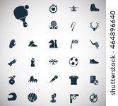 set of twenty seven sport icons | Shutterstock .eps vector #464896640
