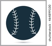 baseball ball icon on the... | Shutterstock .eps vector #464899100