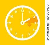 summer time   standard time... | Shutterstock .eps vector #464904470