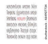 lettering set. names of norway... | Shutterstock .eps vector #464907734
