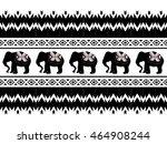 geometric ethnic oriental... | Shutterstock .eps vector #464908244