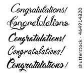 congratulations lettering | Shutterstock .eps vector #464914820