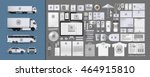 corporate identity template set.... | Shutterstock .eps vector #464915810