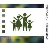 family vector icon | Shutterstock .eps vector #464920568