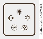 religion signs. | Shutterstock .eps vector #464921474